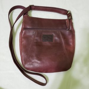 Fossil Leather Maroon Crossbody Bag Vintage